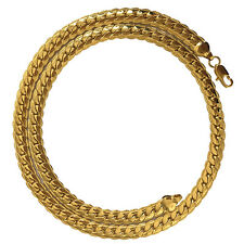 """Mens 18k Gold Filled Necklace 18"""" Snake Curb Chain Fashion Jewelry Pattern"""