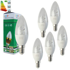 6x Dimmable E14 8W SES LED Candle Bulbs Chandelier Downlight Cool White Lamp AU