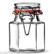 36 Kilner esagonale in vetro Clip Top ERMETICA Spice Erbe Conservazione marmellata 90ml barattoli NUOVO