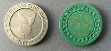 More details for coins playboy london gaming 20p chip & £1 limited ed token (1966)