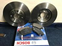 BOSCH VAUXHALL CORSA D 1.2 1.4 2006-2013 FRONT 2 VENTED BRAKE DISCS AND PADS