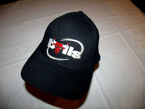 Chicago Bulls Black Hat Circle Spelled Out Logo Kick10 Adjustable Fox Sports