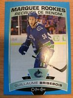 O-Pee-Chee 2019-2020 GUILLAUME BRISEBOIS BLUE BORDER ROOKIE HOCKEY CARD #509