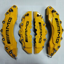 """Engineering Plastic Yellow AMG Brake Caliper Covers 11"""" Front 9"""" Rear for Bens"""