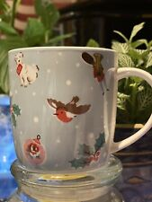 CATH KIDSTON CHRISTMAS CHEER AUDREY MUG DUCK EGG BLUE BRAND NEW FREE POST