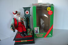 Holiday Creations Santa & Grandfather Clock Musical Holiday Scene