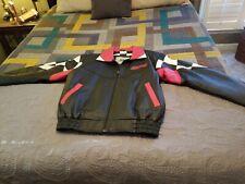 Burke's Bay Darlington Motor Speedway Leather Jacket  Men Size Large