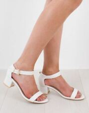 Ceana White Low Heel Sandal With Buckle Detail UK 7 EU 41 LN19 86