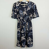 [ WITCHERY ] Womens Georgette Printed Frill Dress | Size AU 6 or US 2