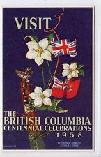 BRITISH COLUMBIA CENTENNIAL CELEBRATIONS, 1958: Advertising postcard (C12916)
