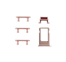 ★RM★ iPhone 7 Komplettes Button Set Power Volume Mute Stumm Knopf Rose Pink★RM★