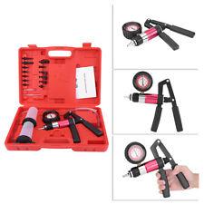 Auto Hand Held Vacuum Pump Pressure Tester Kit Brake Bleeder Tool With Adapters