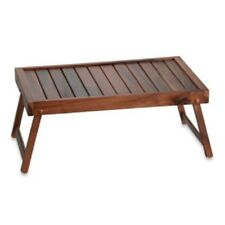 Portable Folding Wooden Bed Table - All Purpose Bed Serving Tray Laptop Lap Desk
