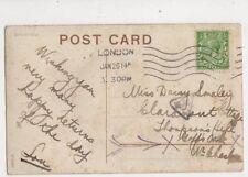 London Machine Cancel Five Wavy Bars 26 Jan 1914 400b