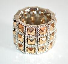 ANELLO argento oro donna fascia elastica a molla fedina elegante cerimonia A5