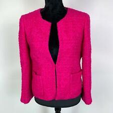 J. Crew Pink Blazer Wool Nylon Textured Lined Business Career Jacket Womens 8