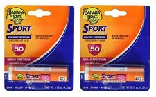 2 Pack - Banana Boat Sport Performance Sunscreen Lip Balm SPF 50 .15oz Each
