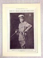 1914 WW1 Aufdruck Britisch Cavalry Brigade Armee Porträt Allgemeine Sir Philip