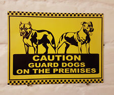 Caution Guard Dogs metal Aluminium Work / Site / Safety Sign