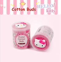 150pcs/box Cute Hello Kitty Cotton Buds Cotton Swab Ear Cleaning Double Ends