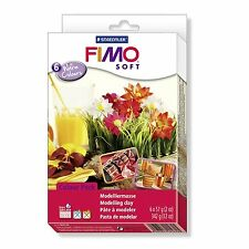 Staedtler FIMO SOFT Material Set - WARM Colours - Pack of 6 x 57g Blocks
