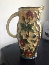 """More details for h j wood """" indian tree"""" handpainted pottery jug"""