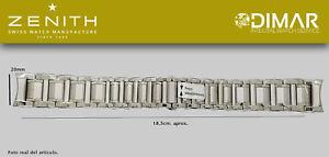 Replacement Watch Band / Bracelet Original Zenith, Steel REF.006. Zip Simultaneo