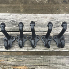 Lot 5 Cast Iron Wall Coat Hooks Hat Hook Hall Tree 2 3/4