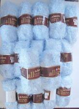 17 Skeins Patons ALLURE Eyelash Fur Yarn Aquamarine Pale Blue Discontinued