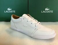 Lacoste Men's Bayliss Vulc PRM White Leather/Synthetic Sneaker Shoes