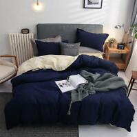 3D Navy Blue Pure Beige KEP7063 Bed Pillowcases Quilt Duvet Cover Kay