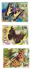 3 POLSKA [POLAND] BUTTERFLY STAMPS (Used)