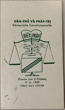 1969 Vietnam #349-350 Saigon First Day Cover/Folder, Constitutional Democracy *a