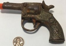 Small Antique Cast Iron Toy Gun Pistol Working But Rusty Condition