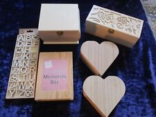 Wooden Craft Boxes/Memory box Lot 2