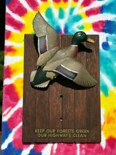 Vintage 1960s OLYMPIA BEER SIGN Wildlife Series Plaque Mallard Duck 1963 3D  Bar