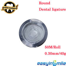 50mrolls Dental Orthodontic Ligature Wire Stainless Steel 40g 03mm Round Usa