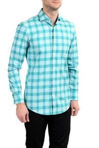 "Hugo Boss ""Jason"" Men's Multi-Color Plaid Slim Long Sleeve Dress Shirt"
