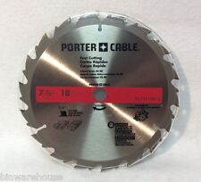 "One Blade Porter Cable PC72518 B10 7-1/4"" Circular Saw Carbide Tooth Fast Cut"