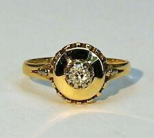 Art Deco Ring 585 Gold Solitär Diamant - 20621 –