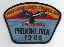 Ventura Council CSP SA-8, Philmont Trek 1980, Black Brd., Cloth Back, Mint!