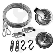 Garage Door Pulley and Safety Cable Complete Hardware Kit For Ext Spring