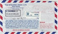 Japan 1980 Mitsubishi Bank Ltd Regd Airmail to Commerzbank Stamp Cover Ref 29733