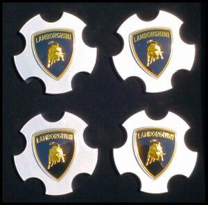 Factory Lamborghini Wheel Center Caps Set OEM Callisto Apollo Silver 400601147B