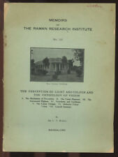 C V Raman / Memoirs of the Raman Research Institute No 125 The Perception 1960