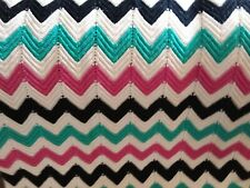Hand knitted colorful bedspread