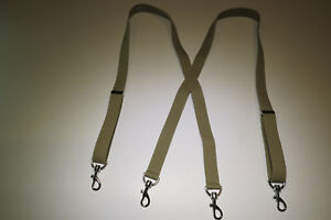 """1"""" Wide Suspenders with Stainless SNAP-ONS to BELT LOOPS Many Colors MADE IN USA"""
