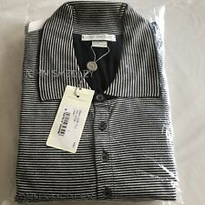 Brand New John Smedley Isis Long Sleeve Polo Shirt In Black Size L