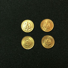 Lot of 4 coins - Four 1945 Mexican 2 Peso Gold Coin - Uncirculated