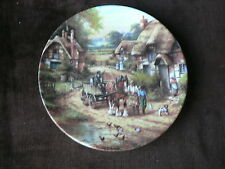 Early Morning Milk, Country Days, Wedgwood Plate, Country, Nature, Horse Cottage